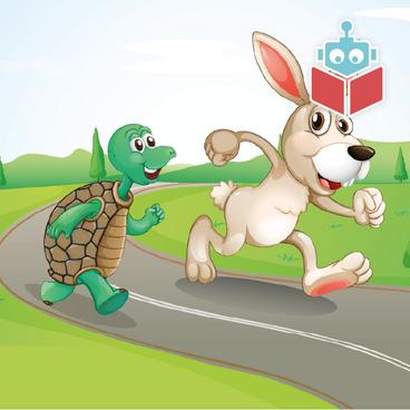 Haren og skildpadden